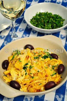 Cod stew (Bacalhau a Brás). Portugal