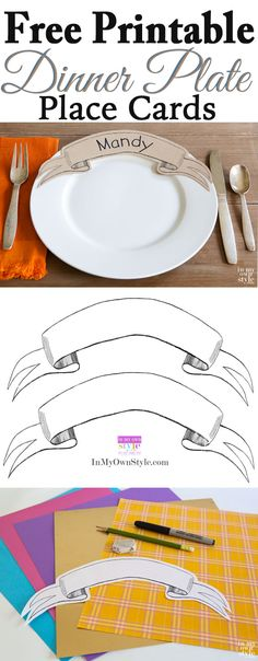 Wow your dinner guests the next time you entertain with these paper ribbon banner place cards that you place on the dinner plates.