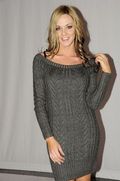 love this sweater dress! I would add a belt though.