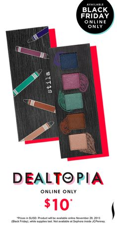 Black Friday Preview: Stila Artful Eye Collector's Palette #Dealtopia #Sephora #blackfriday