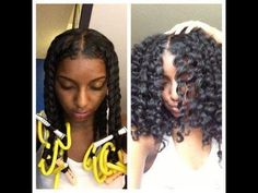Natural hair: Twist Out, perm rods and flexi rods