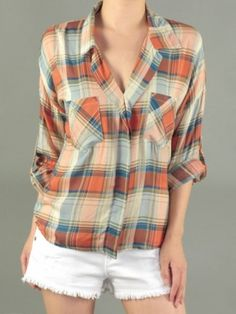 Country Chic Plaid Top