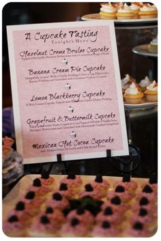 cupcake tasting party