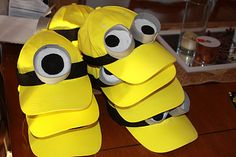 diy costumes, minion hat, birthday ideas minions, disney parties, craft, birthday parties, costume ideas, family halloween costumes, kid