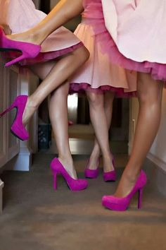 Bridesmaids  - fuchsia shoes
