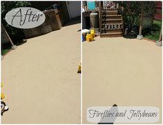 Fireflies and Jellybeans: We painted our Patio!