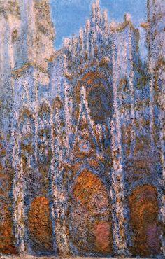 Руанский собор (Портал в свете восходящего солнца, гармония в голубом)