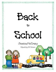 back to school unit, free downloadable!