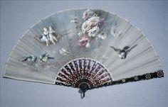 Fan, late 19th century fan abanico, hand fan