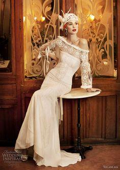 1920s inspired wedding dress
