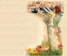 . ladi pick, de lune, vintag transfer, mes fond, pick flower, pré de