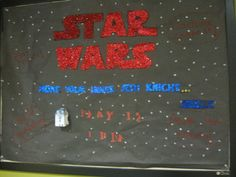 The Force Has Come to the Library bulletin board in the teen area.