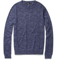Marl Cotton and Silk-Blend Sweater