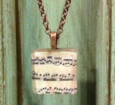 vintage music notes Necklace Necklace with by BrandysNickNacks, $7.00  ALLISON