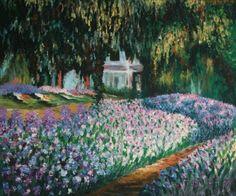 Monet oil paintings, artists, paint reproduct, giverni, gardens, artist garden