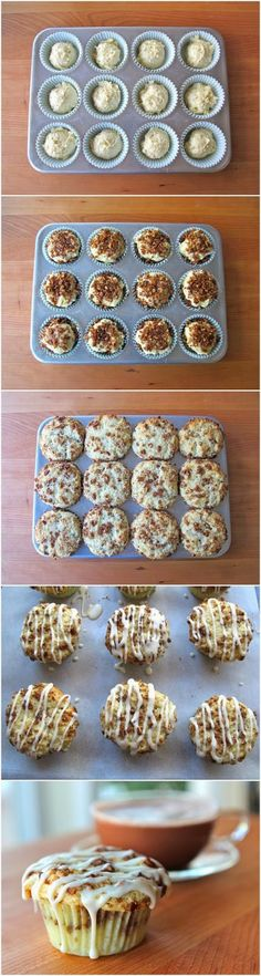 Coffee Cake Cupcakes #cupcakes #cupcakeideas #cupcakerecipes #food #yummy #sweet #delicious #cupcake