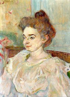 Henri De Toulouse-Lautrec 1864 - 1901 Portrait De Béatrice Tapié De Céleyran - #art