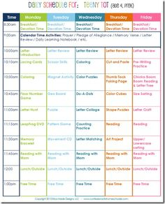 Daily Homeschool Schedule: Preschool | Confessions of a Homeschooler THIS BLOG IS AMAZING!!