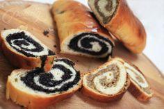 Poppy Seed and Walnut Rolls seed roll, poppy seed bread roll, poppi seed, food, poppyse roll, walnut roll, poppies, rolls, dessert