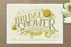REVEL: Sunflower Bridal Shower Invitations