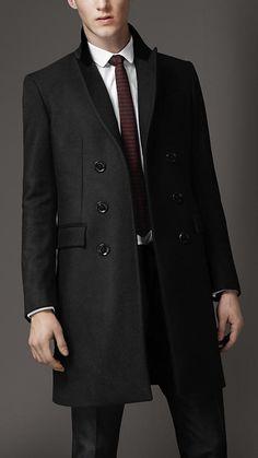 Burberry London Velvet Collar Top Coat