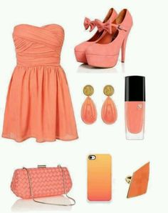 Coral and peach look!