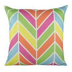 Multi-colored pillow