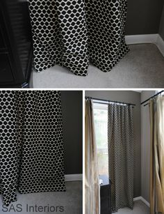 How to make simple lined window drapery panels