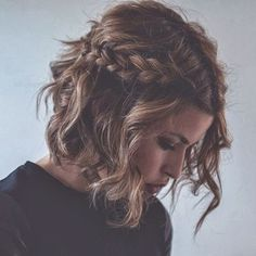 Braided updo for short hair