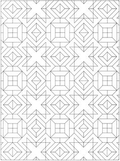 Geometric Allover Patterns Coloring Book