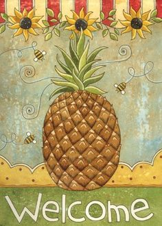 Sunflowers & Pineapple House Flag by Toland Home Garden. $16.28. Heat sublimated process permanently dyes flag fabric for long-lasting color. Decorative Art Flag. All Toland Flags are machine washable. Toland Flags are UV, Mildew, and Fade Resistant. Toland Flags are made from durable 600 denier polyester. Sunflowers & Pineapple Standard Flag 28 by 40