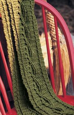 starter cable crochet scarf
