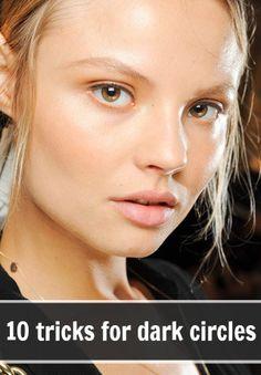 10 tricks for getting rid of dark circles