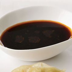 Dumpling Dipping Sauce ~ In a small bowl, whisk the soy sauce with the rice vinegar, chile-garlic sauce and sesame oil, then serve.