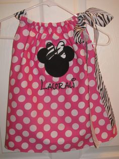 Minnie+Mouse+Pillowcase+Dress+with+monogram+by+Jessicagreer37,+$32.00