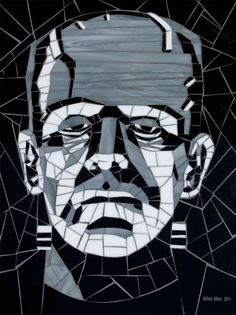 frankenstein monster, stain glass, mosaic, bride, stained glass, movie monsters