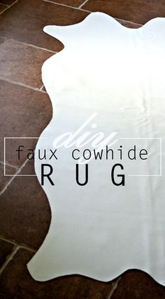 how to diy a faux cowhide rug