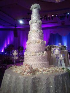 gorgeous, tall wedding cake