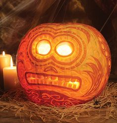 fun carved pumpkin by Jim Bradshaw