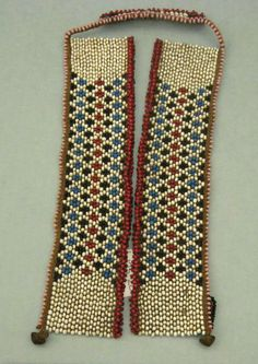 Africa | Collar/necklace from the Xhosa people of South Africa | Glass beads, metal, fiber
