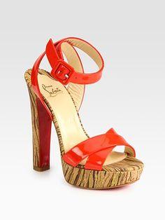 christians, summer styles, patent leather, print platform, platform sandal