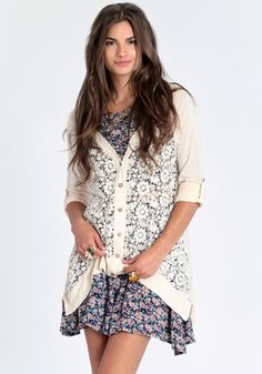 Lace Perfection Cardigan 39.00 at threadsence.com