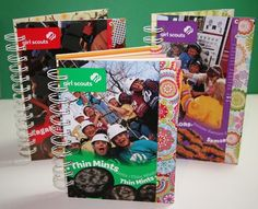 Why didn't I find this before?? Great idea. Upcycle those Girl Scout Cookie boxes into cute notebooks!