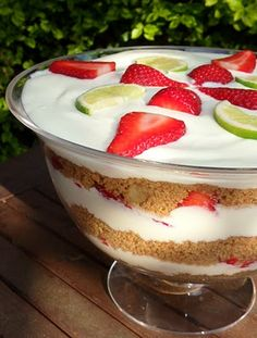 Strawberry/Lime Margarita Cheesecake Trifle  Perfect for the summer