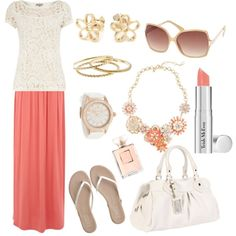 """coral fun"" by jenleding on Polyvore"