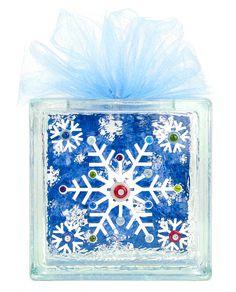 Nicole™ Crafts Snowflake Glass Block #christmas #glassblock