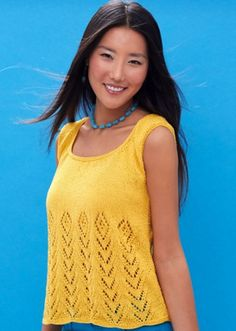 Hello Sunshine! Get the free knitting pattern for the Summer Breeze Tank right here!