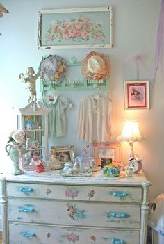Not the dresser, but oh my goodness...love everything on top of dresser and up!