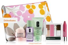Visit Debenhams or shop online to get this free gift. Now through October 25. http://clinique-bonus.com/united-kingdom/ Yours with 2 Clinique products purchase.