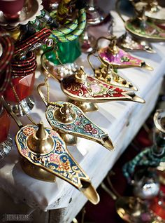 Genie lamps for sale in Marrakech. What's your wish? :)